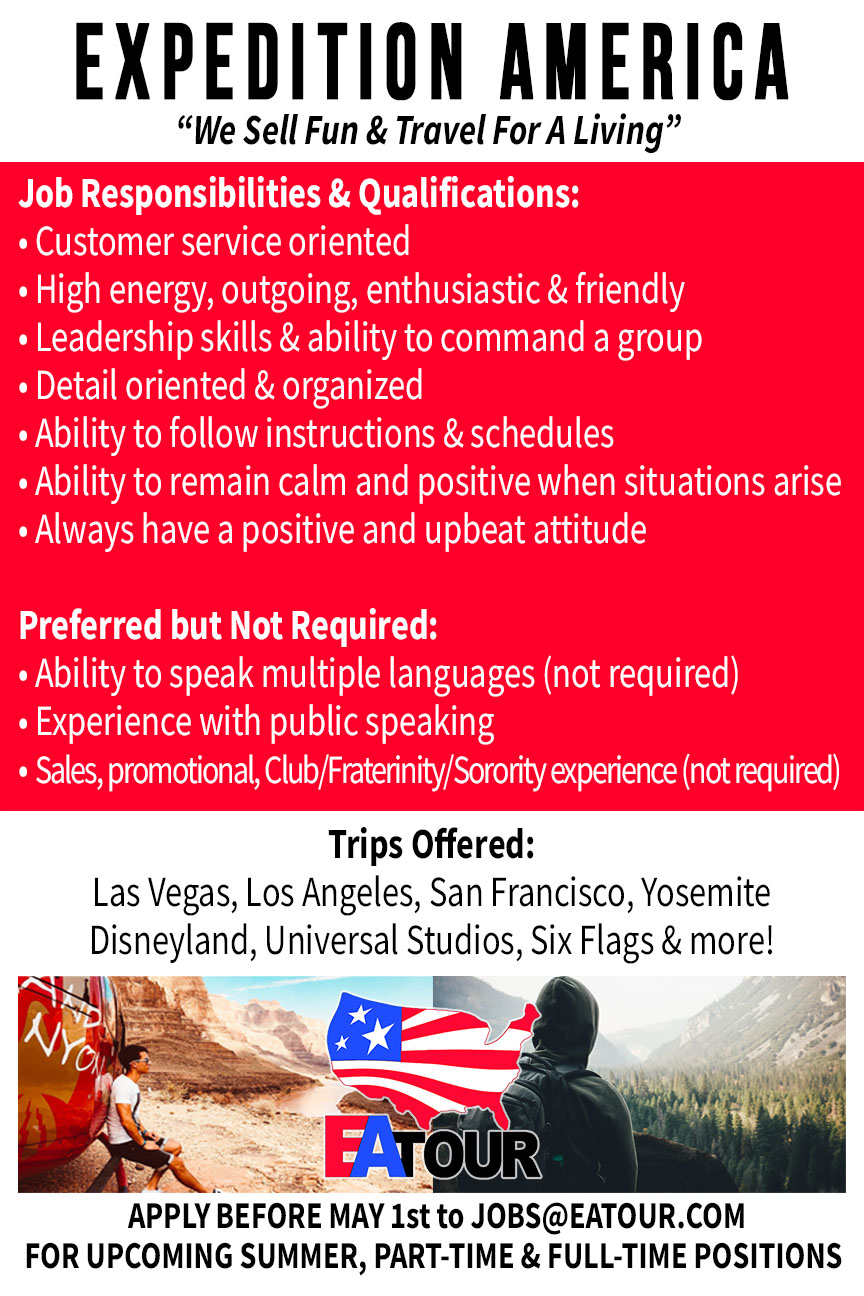 Expedition America Job Flyer Back - EA Tour : EA Tour